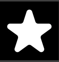 star white color icon vector image