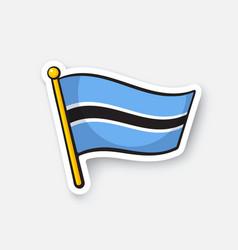 Sticker flag botswana vector
