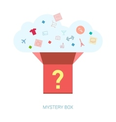Surprize and secret gift flat icon vector image
