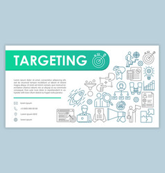Targeting banner business card template smm vector