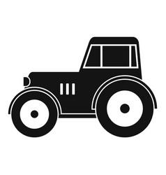 Tractor icon simple vector