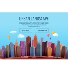 Urban cityscape Colorful building and city vector image