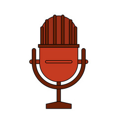 White background with studio microphone vector