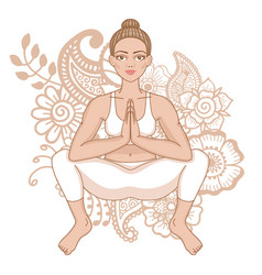 Women silhouette squat yoga pose malasana vector