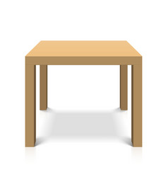 Wooden square coffee table vector