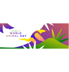 World animal day banner wild jungle anteater vector