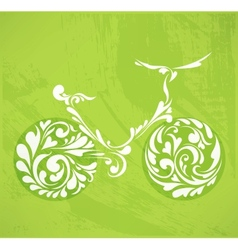 abstract floral bicycle vector image vector image