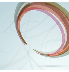 Background with transparent circle design element vector image vector image
