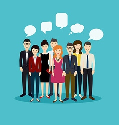 Business people and business teamwork Social Netwo vector image vector image