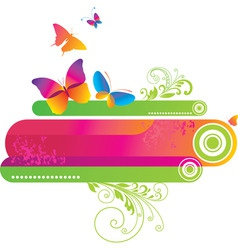 colorful background with butte vector image vector image