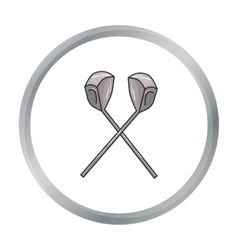 Crossed golf clubs icon in cartoon style isolated vector image vector image