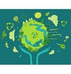 Eco Friendly Green Energy Concept Flat vector image vector image