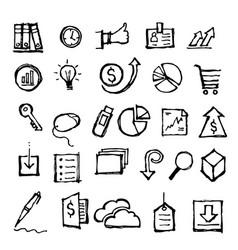 financial icon doodle hand drawn vector image