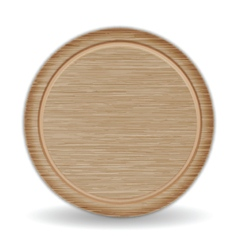 Isolated Circle Cutting board Dark Brown Oak Wood vector image vector image