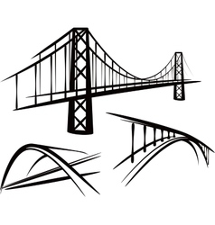 set of bridges vector image