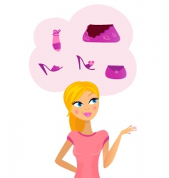woman on shopping vector image vector image