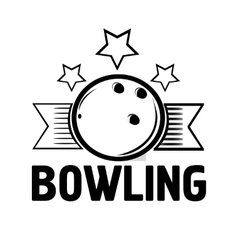 Bowling emblems labels badges and designed vector image vector image