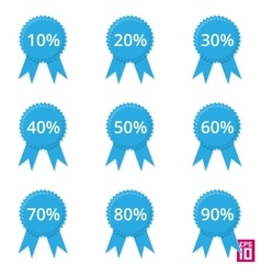 Label discount vector image