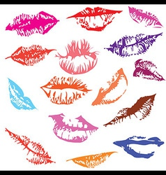 lips set track vector image vector image