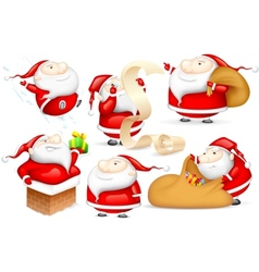 Santa in different Mood vector image vector image