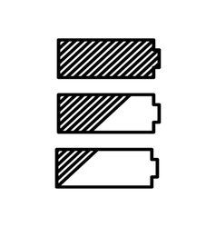 Simple battery icon vector