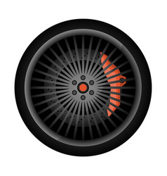 sport car racing rim icon vector image vector image