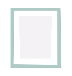 Empty picture frame vector image