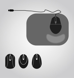 Mouse set vector image vector image