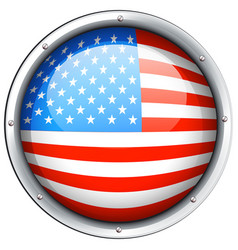 round icon for flag of america vector image
