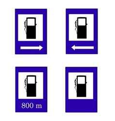 Gas station sign set vector image