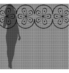 lace girl silhouette vector image vector image