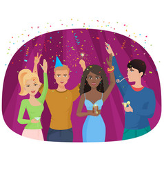 the celebrating people with vector image
