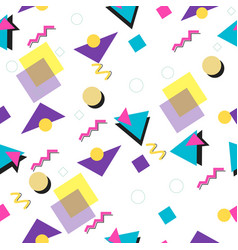 90s and 80s style seamless pattern vector image