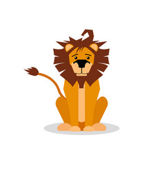 a cartoon of a friendly lion vector image