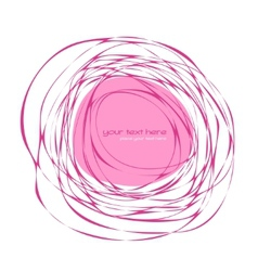 Abstract pink frame vector image