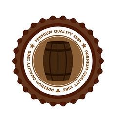 Beer label vector image