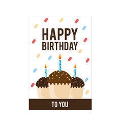 Birthday cake card image vector