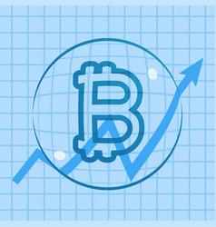 Bitcoin rising price bubble vector
