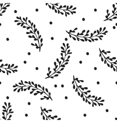 Black and white hand drawn abstract pattern vector