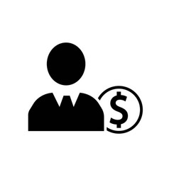 businessman with dollar coin icon icon simple vector image