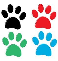 Cat paw vector