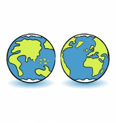 Childish globes vector