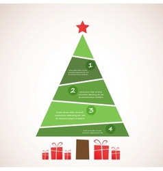 christmas infographic tree with decoration and vector image