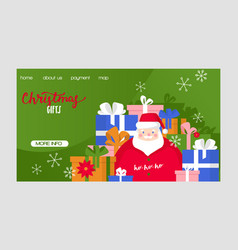 christmas merry xmas greeting card with vector image