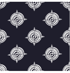 compass seamless pattern minimalistic textile vector image