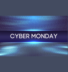 cyber monday background binary code sale concept vector image