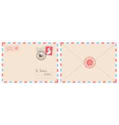 dear santa claus mail envelope christmas surprise vector image
