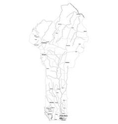 Detailed map of benin vector