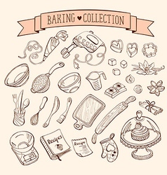 Doodle baking collection vector