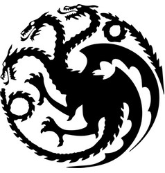 dragon three heads symbol vector image